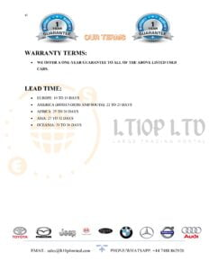 warranty assurance for used cars sales