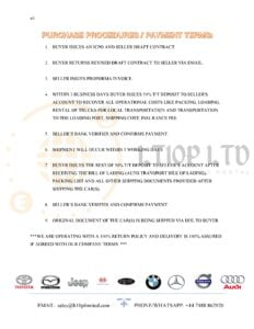 Our dealing terms and conditions for clean used BMW motors new series for sale